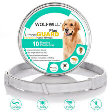 WOLFWILL 26'' Flea & Tick Collar 10 Month Protection Waterproof Small Large Dogs
