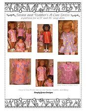 Aline Dress for Sasha, Sasha Toddler and Baby Sasha ~ Simply Grace Designs