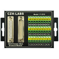 DB25 Male/Female Screw Terminal Block Breakout Interface Module with Enclosure.