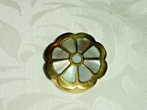 """NEW BRASS & Mother of Pearl Decorated  """"PILL BOX """""""