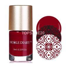 9ml Nail Stamping Polish, Nail Art Stamp Varnish NICOLE DIARY