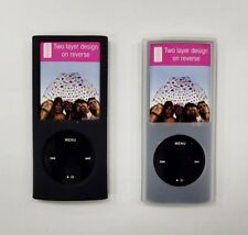 2 X Silicone Cover apple iPod nano generation 4 Rubber case with Sports Armband