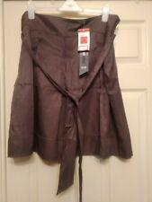 New M&S Dark Mole Pleated Skirt Size 18