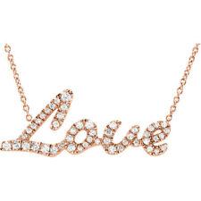 Diamante Amor 45.7cm Collar en 14k oro rosa (1/5 CTW )