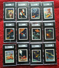 1958 SWIFT MEAT Space - Tomorrow SCI-FI pack fresh SGC GRADED SET OF 12 CARDS