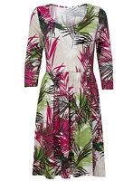Brand New Ladies Ex Per Una Leaf Print 3/4 Sleeve Tunic Dress Size 8-22