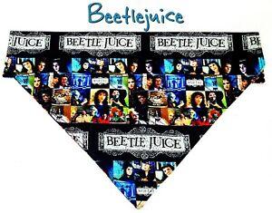 Beetlejuice Dog Bandana, Over the Collar dog bandana, Dog collar bandana movie