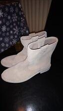 Ladies Clarkes Sand/Cream Boots Size 5