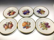 Schwarzenhammer Bavaria Salad Plates Hand Painted Fruit