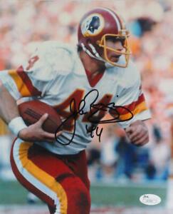 John Riggins Autographed Washington Team Eagle Eyed 8x10 Photo- JSA *Black