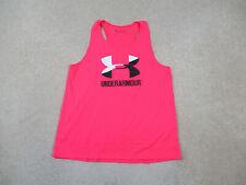 Under Armour Shirt Youth Extra Large Pink Logo Lightweight Tank Top Kids Girls