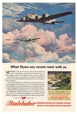 Boeing B-17 Flying Fortress Studebaker '40s Army Weasel Original Ad Page 1945