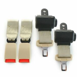 2X Fit Buick 2 Point Harness Safety Belt Seat Belt Retractable Beige Universal