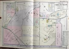1916 A.H. Mueller Montgomery County Pa Chelten Hills Reproduction Plat Atlas Map