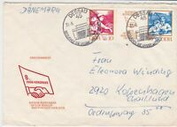 german democratic republic 1972 stamps cover ref 19229