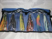6 Fully Rigged Troll Lures & Lure Wrap   FREE POST