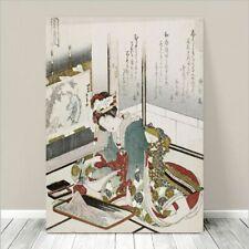 "Beautiful Japanese GEISHA Art ~ CANVAS PRINT 8x10"" Stone"