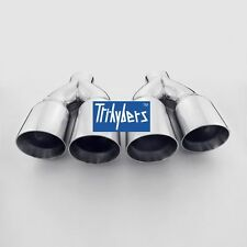 """Dual 3.5"""" Outlet / Single 2.5"""" Inlet Exhaust Tips 12"""" long Stainless Steel"""