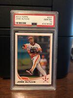 2013 Topps Jose Altuve Astros Baseball Card #227 PSA 10 Gem Mint