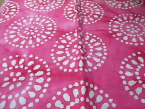 QUILTERS BATIKS(02) Pink and White 100% Cotton . By the Yard. Free Shipping!