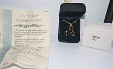 Gemstone & Crystal Pendant & Pierced Earrings Set Publishers Clearing House COA