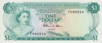 P35b BAHAMAS ONE DOLLAR BANKNOTE 1974 IN MINT CONDITION