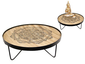 New 1pce 35cm Wooden Mandala Table Stand Industrial Boho Design Home Decor