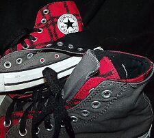 CONVERSE CT Chuck AS gray red black plaid Shroud hi-top canvas sneaker shoe 8 10