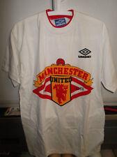 maglia manchester united calcio bianca usata umbro size XL nr no
