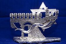 """""""Jewish Shofar"""" 925 Silver Handmade Menorah Hanukkah Chanukah Judaica Israel"""
