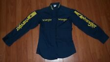 RARE PROTOTYPE Wrangler Jeans WILLIE NELSON medium 80's Button Down SAMPLE Shirt
