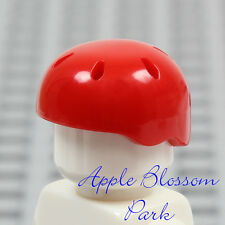 LEGO Skate Board Minifig RED HELMET - Friends Bicycle/Bike Sport Head Gear Hat