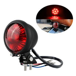 Motorcycle Red Tail Lights LED Rear Stop Blinkers Lamp for Cafe Racer Scrambler