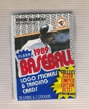 1989 Fleer Baseball Cello Pack with Eddie Murray on Front Showing