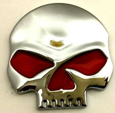 x1 New Custom Chrome / Red Skull Punisher Emblem / Badge / Decal Turbo Diesel HP