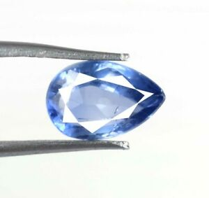 Ceylon Blue Sapphire Loose Gemstone Pear 4.30 Ct 100% Natural Certified A49696