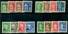 NORWAY #132/161 Famous Norwegians - 4 complete sets, used VF, Scott $36.85