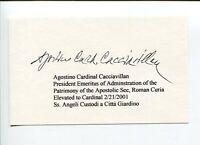 Agostino Cacciavillan Roman Catholic Cardinal Clergy Signed Autograph