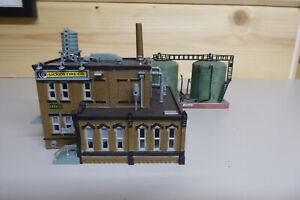 Factory with Oil Tanks.