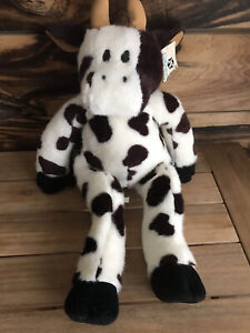 "LARGE GATEWAY COMPUTERS BLACK & WHITE FLOPPY COW 24"" ADVERTISING PLUSH 1999 Used"