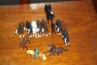 BRITAINS  HORSES /FOALS 1 WITH A RIDER    LOOSE PLAYED WITH