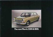 Morris 2200 & 1800 Original UK Sales Brochure Pub. No. 2904A March 1972