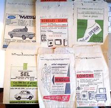 LOTTO 6 BUSTE PUBBLICITARIE NEGOZI BOLOGNA  ANNI '60 pubblicità vintage - B1