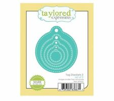 Taylored Expressions Cutting Die Set ~ TAG STACKLETS 3  ~ Round, Circle ~TE822