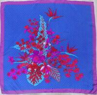 JEAN PATOU Beautiful Vintage Scarf 100% Silk  HandRolled