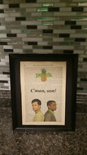 """Antique Dictionary Art: Psych TV Show Shawn and Gus Pineapple """"C'mon son"""""""