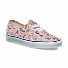 Vans Authentic Peanuts Dance Party Pink Toddler 9.5 Skate Shoes Sneaker