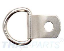 10 Stück D-Ring mit Befestigungs Clip - D-Ring: 12mm Halbrund Ring D-Ringe