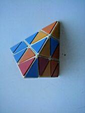 Soviet Vintage Rubik Pyramid Triangle Puzzle Toy