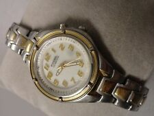 """Fossil ladies watch 6"""" band heavier solid rotating bezel"""